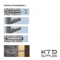 Cheville métallique pour chassis - 8 mm