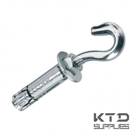 Cheville métallique à expansion avec crochet soudé