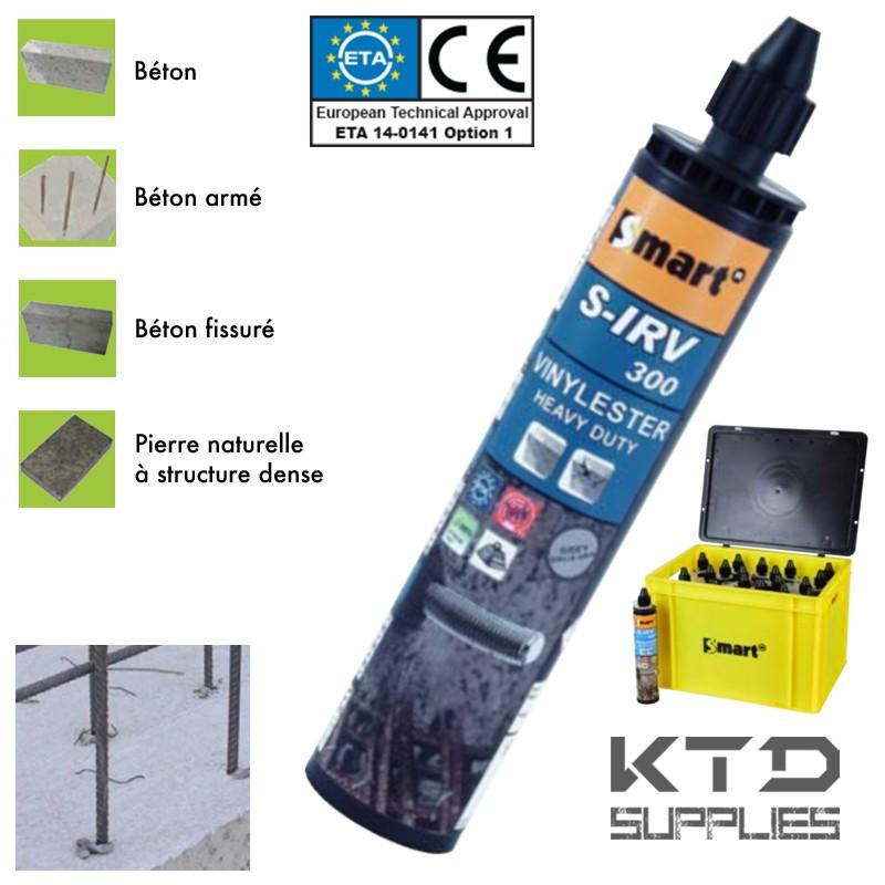 Scellement chimique haute performance S-IRV 300 ml – Pack Pro