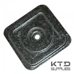 Rondelle carrée pour panneaux isolants