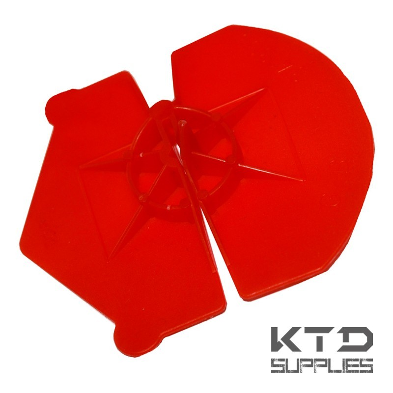 Disque d'isolation universel rouge polyethylene