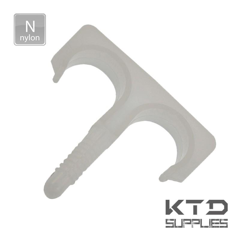 Fixation clips pontet double