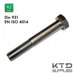 Vis à tête hegagonale - Inox A2-70 - DIN 931