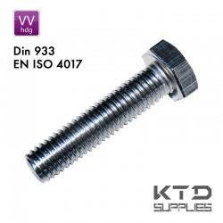 Vis à tête hegagonale - Galvanisé - Surdimensionné - Acier 8.8 - DIN 933