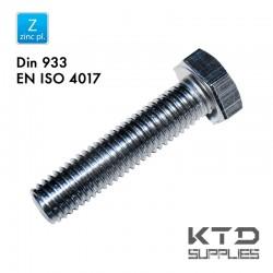 Vis à tête hegagonale - Zingué - Acier 10.9 - DIN 933