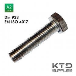Vis à tête hexagonale - Inox A2 - DIN 933