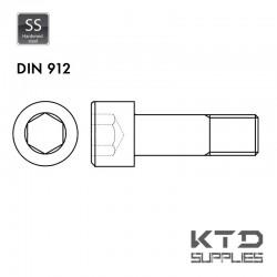 Vis à tête cylindrique à 6 pans creux - Acier 12.9 zingué - DIN 912