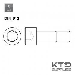 Vis à tête cylindrique à 6 pans creux - Acier 8.8 - DIN 912