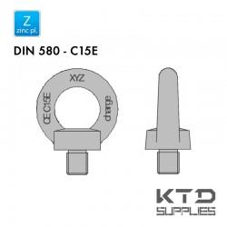 Vis à anneau - Acier C15 - Zingué - DIN 580