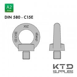 Vis à anneau - Inox A2 - DIN 580