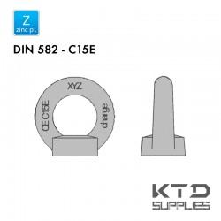 Ecrou à anneau - Acier C15 - Zingué - DIN 582