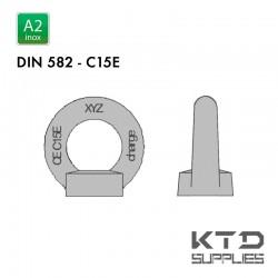 Ecrou à anneau - Inox A2 - DIN 582