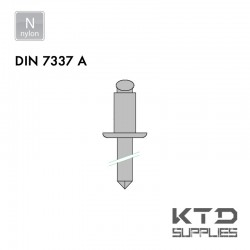 Rivet aveugle tête plate bombée - Polyamide - DIN 7337A