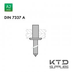 Rivet aveugle étanche - Inox A2 - DIN 7337A