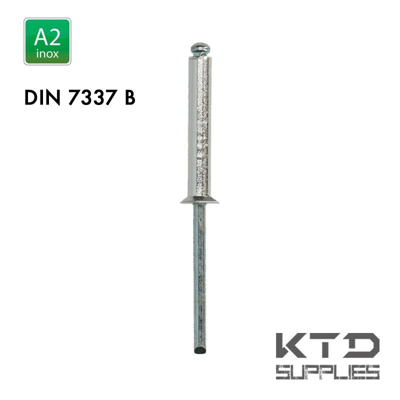 Rivet aveugle - Inox A2 - DIN 7337B