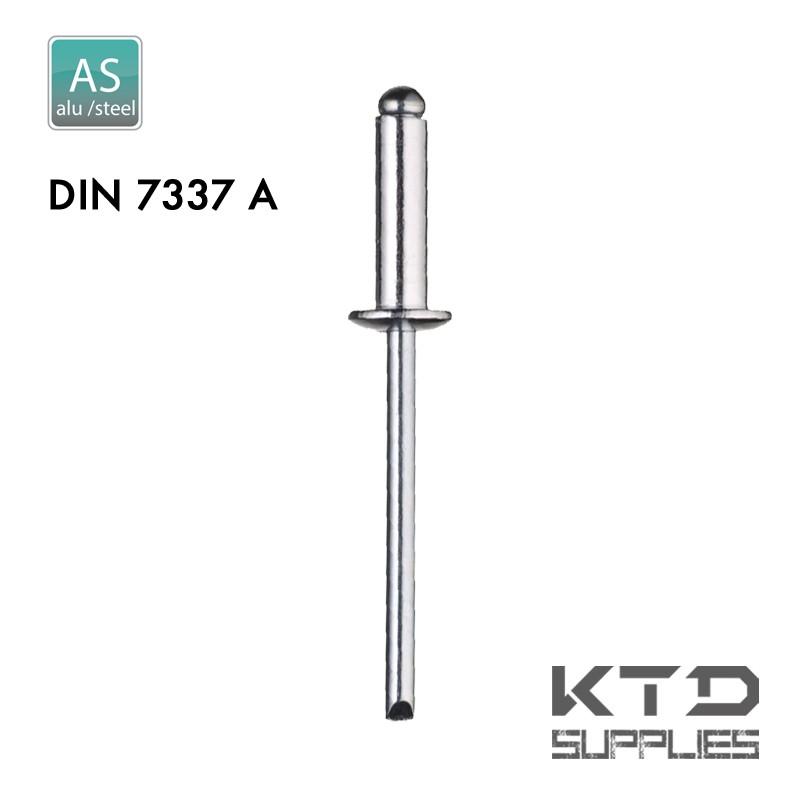 Rivet aveugle - Alu/Acier - DIN 7337A