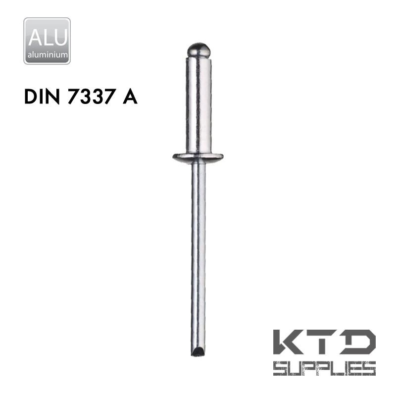 Rivet aveugle - Alu/Alu - DIN 7337A