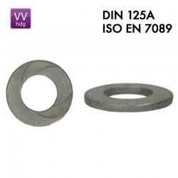 Rondelle DIN 125A galvanisée à chaud