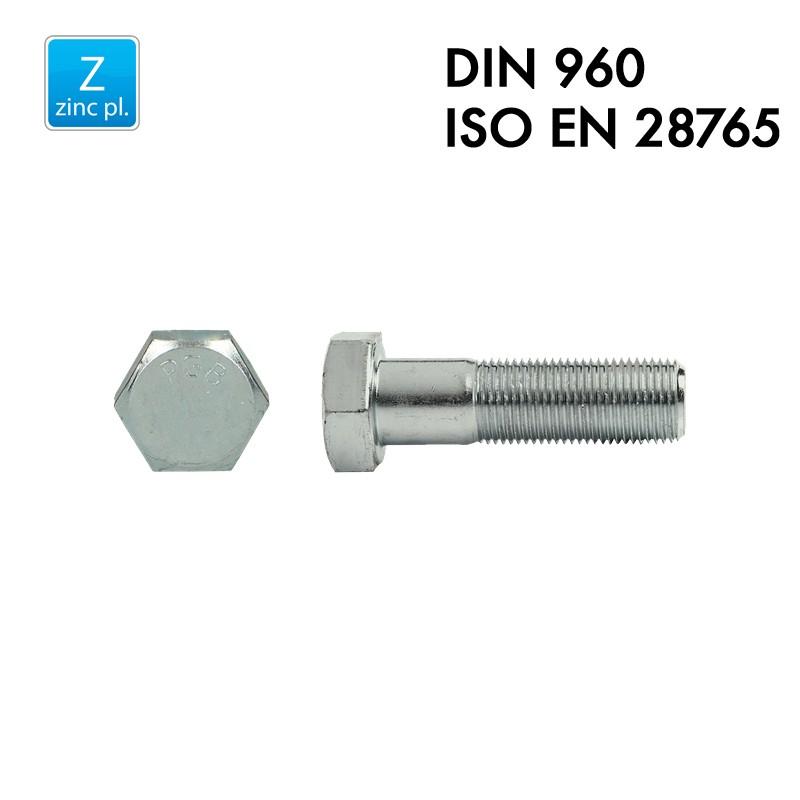 Vis à tête hexagonale - Acier 8.8 zingué - DIN 960 – EN 28765