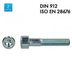 Vis à tête cylindrique à 6 pans creux - Acier 8.8 zingué - DIN 912