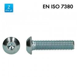 Vis à tête basse cylindrique bombée plate à 6 pans creux - EN 7380