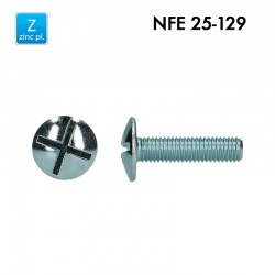 Vis poêlier à double fente - Acier 4.8 zingué - Filet complet – NFE 25-129