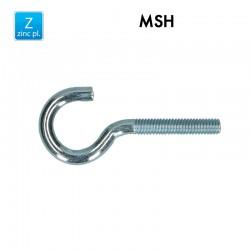 Crochet d'armoire avec filet métrique - MSH - Acier