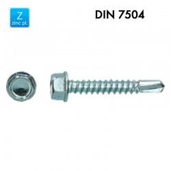Vis à tôles autoforante en acier trempé – Zingué – DIN7504