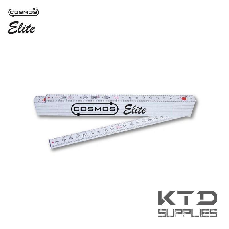 """Mètre pliant en fibre de verre """"elite"""" 2m 10 sections - EU CLASS III - fabriqué en Suisse"""