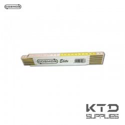 """Mètre pliant bois """"elite"""" 2m - jaune/blanc 10 sections - EU CLASS III"""