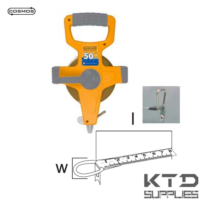 Prosilver mètre à ruban mesure longue 13x30 nylon coated tape - EU CLASS II