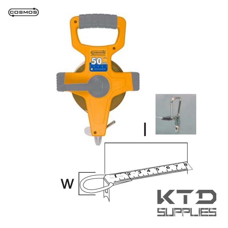 Prosilver mètre à ruban mesure longue 13x50 nylon coated tape - EU CLASS II